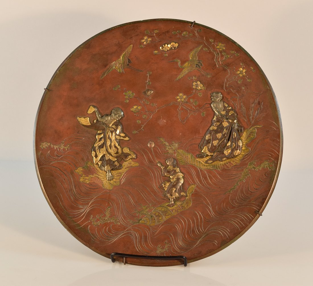 Japanese Mixed Metal Charger with Lohan Scene