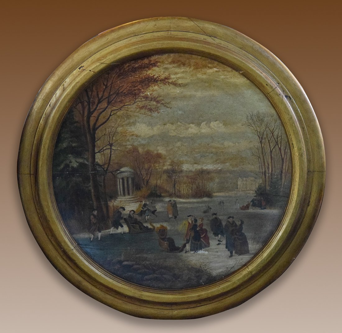 French Oil Painting on Wood