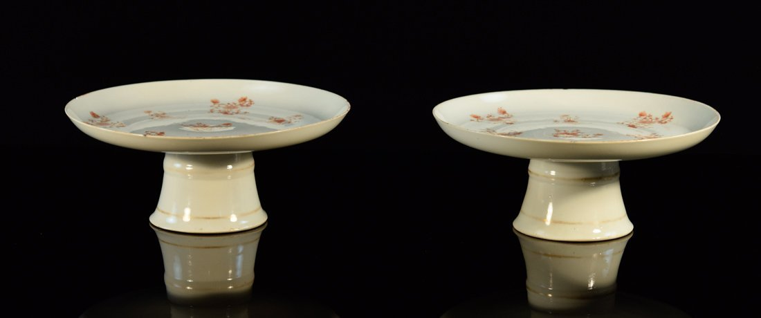Pair Chinese Porcelain Tazza
