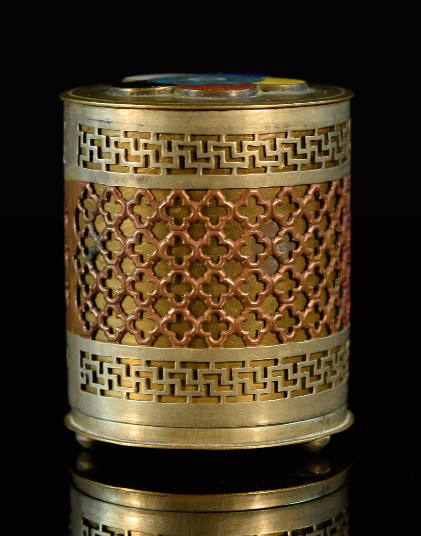 Chinese Batong Brass Tubular Shaped Censer