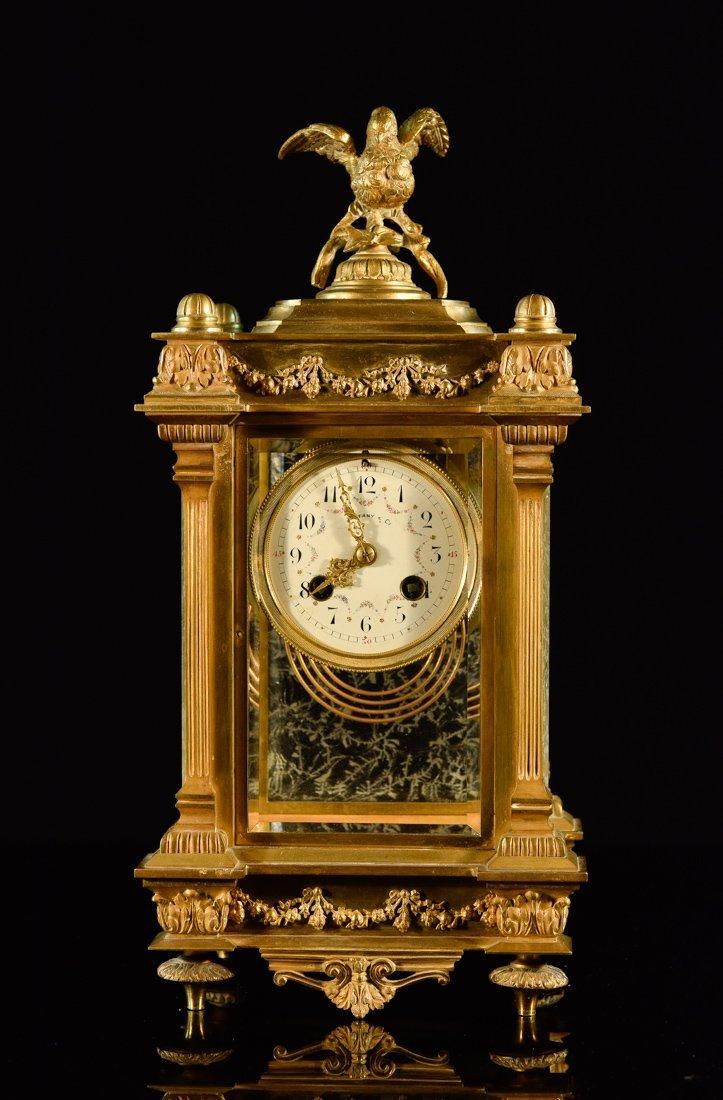 Tiffany Bronze Clock