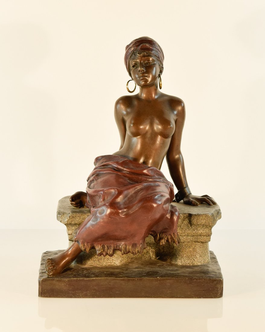 French Bronze Study of a Nude Seated Beauty