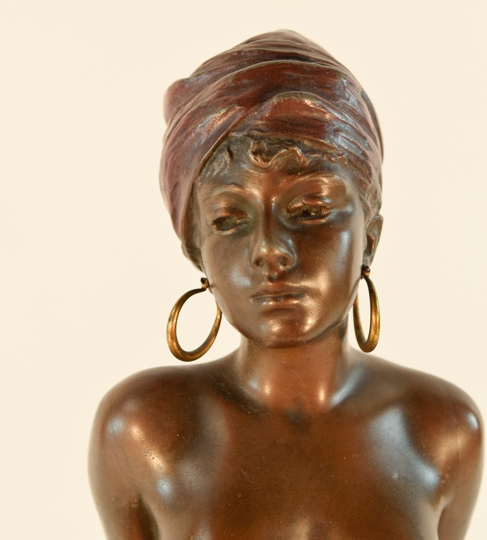French Bronze Study of a Nude Seated Beauty - 2