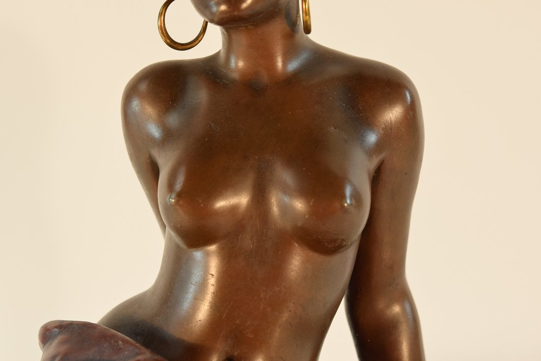 French Bronze Study of a Nude Seated Beauty - 3