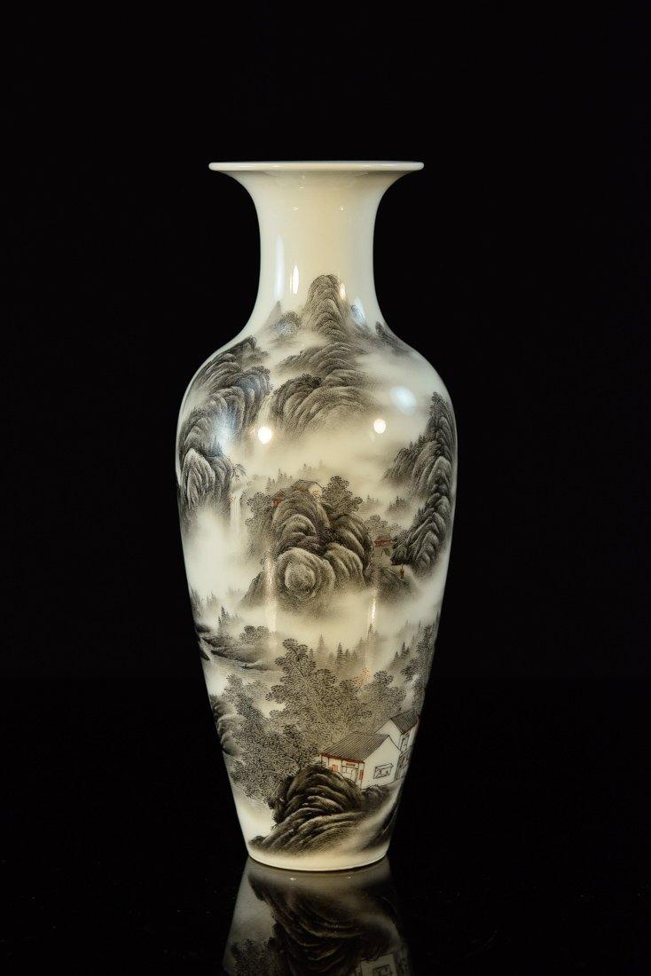 Chinese Porcelain Vase of Landscape Scene