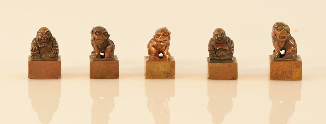 Chinese Bronze Seals - Group of Five