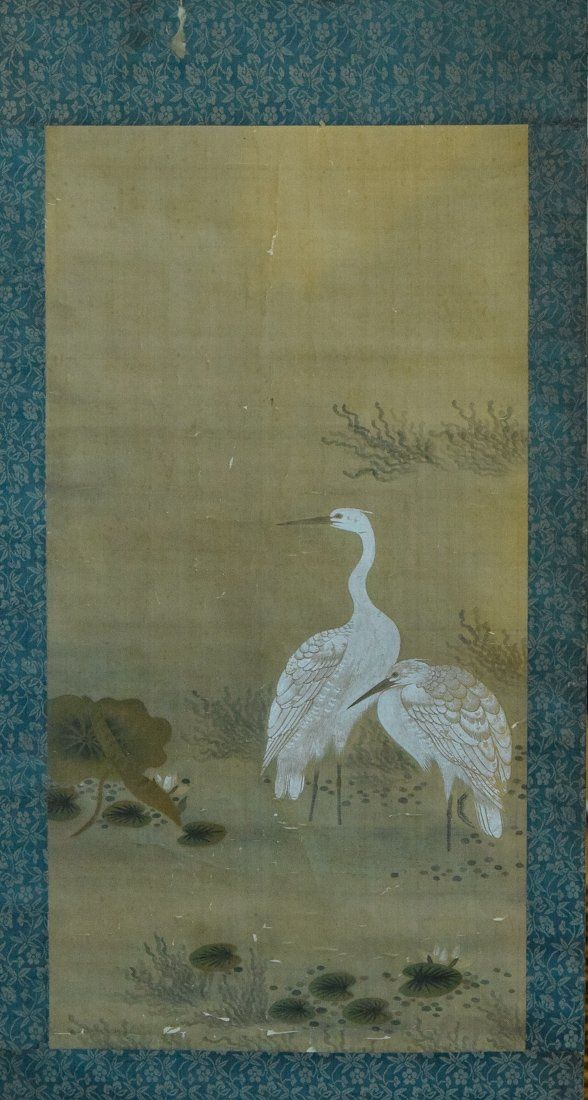 Chinese Scroll Painting of Heron