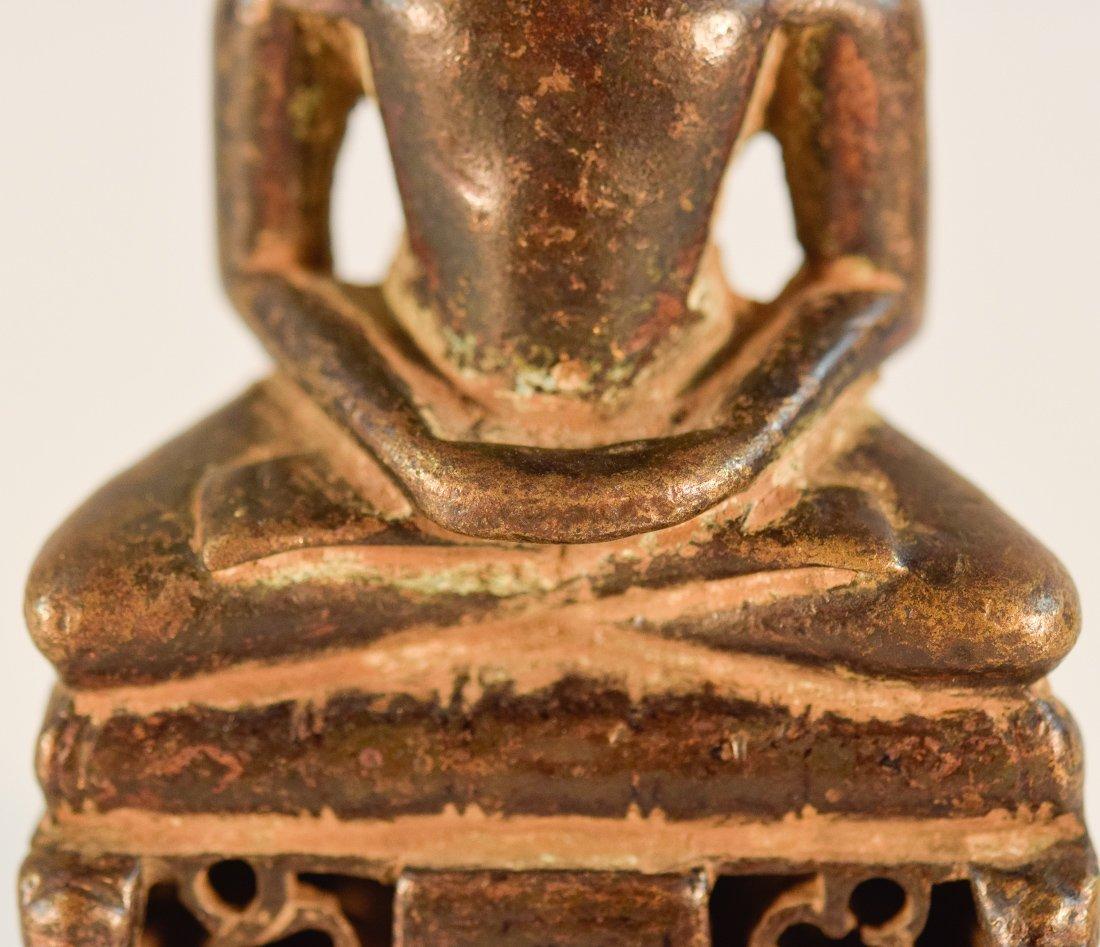 Early Jain Bronze Naga Buddha with Characters - 3