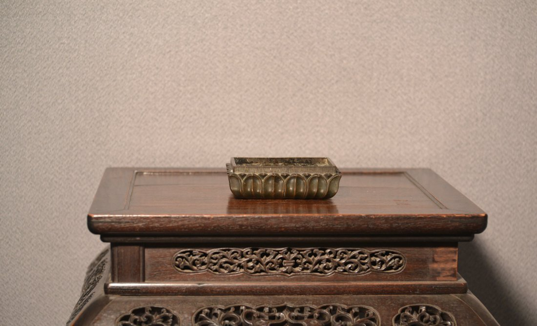 Chinese Bronze Censer with Lotus Pedal Motif