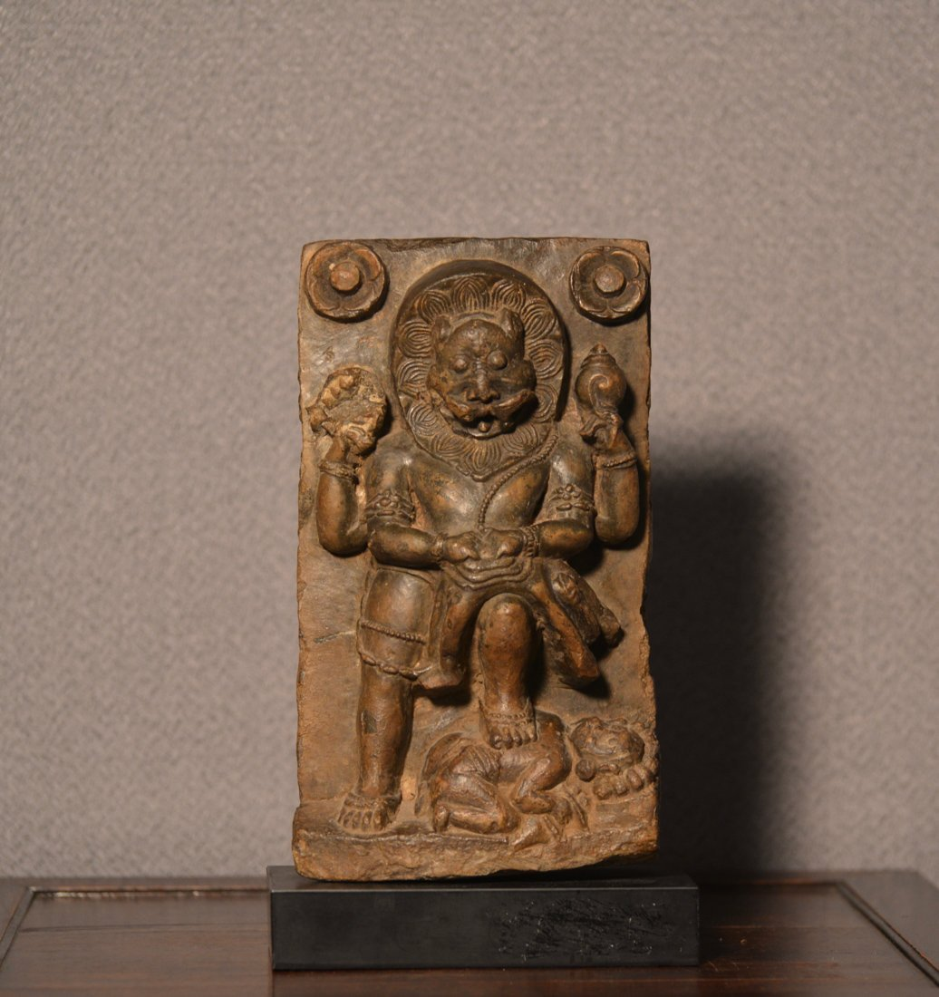 Indian Stone Carving of Diety with Multi Hand