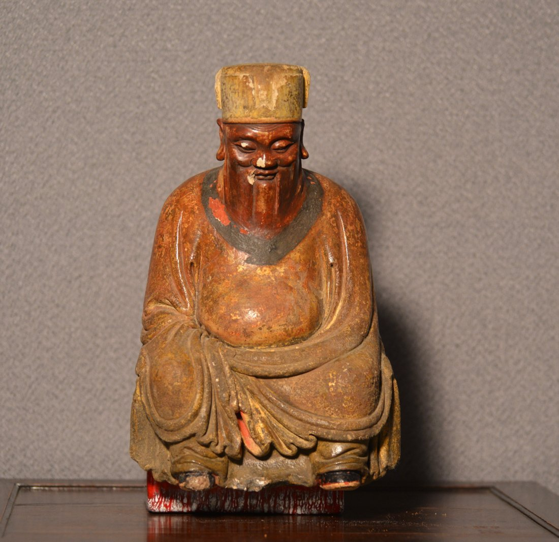 Chinese Terra Cotta Clay Seated Officer