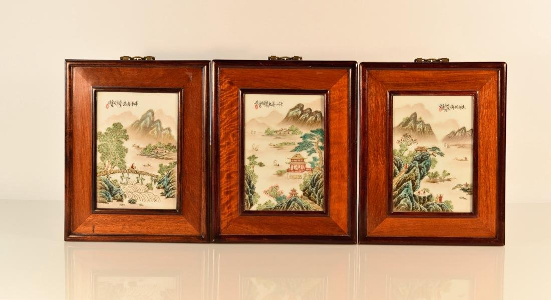 Chinese Porcelain Plaques - Group of Three