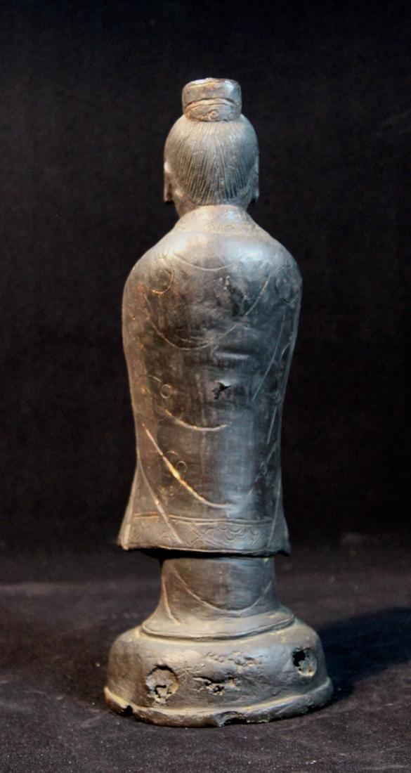 Chinese Ming Bronze Standing Figurine - 5