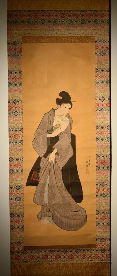 Japanese Scroll Painting of Beauty