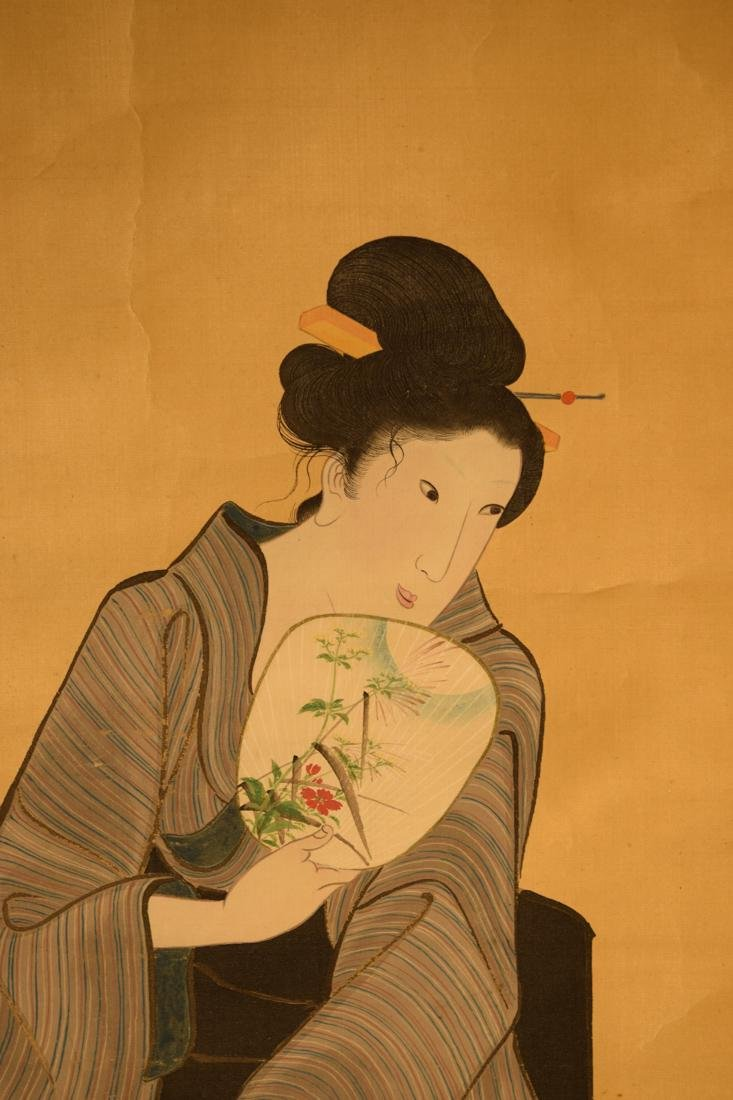 Japanese Scroll Painting of Beauty - 2