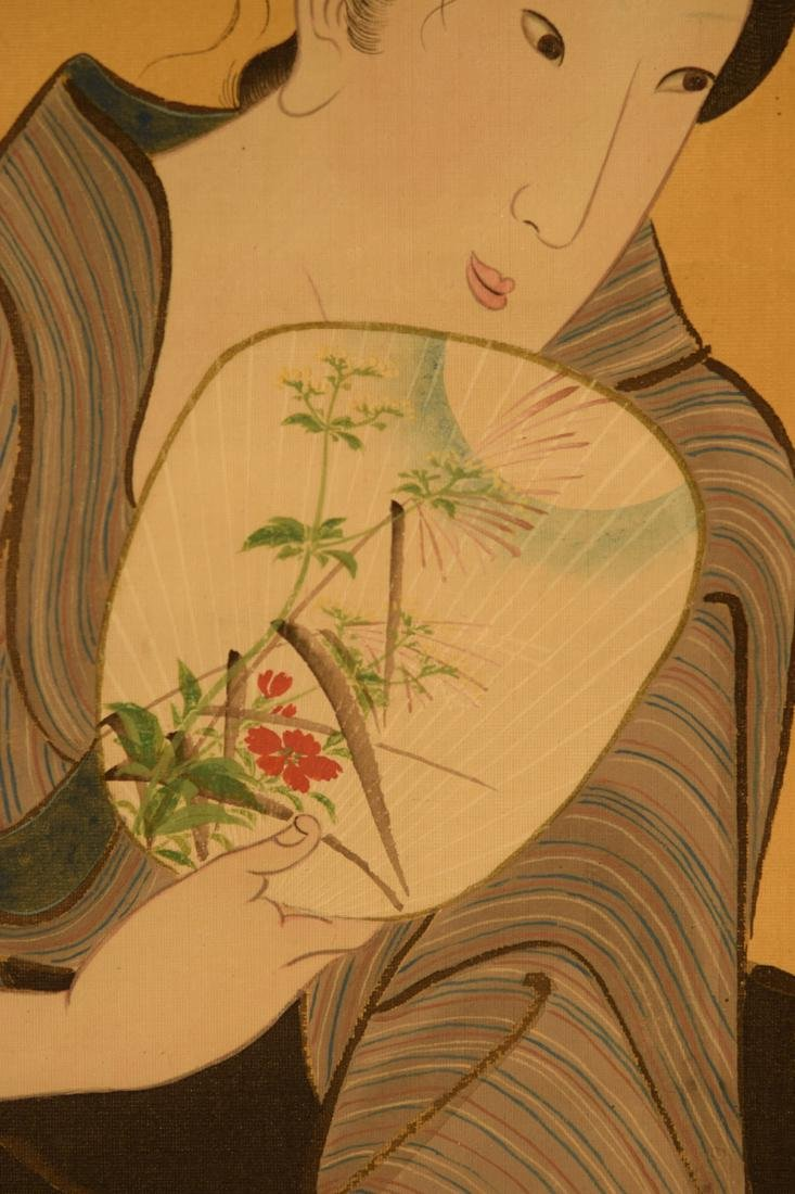 Japanese Scroll Painting of Beauty - 3