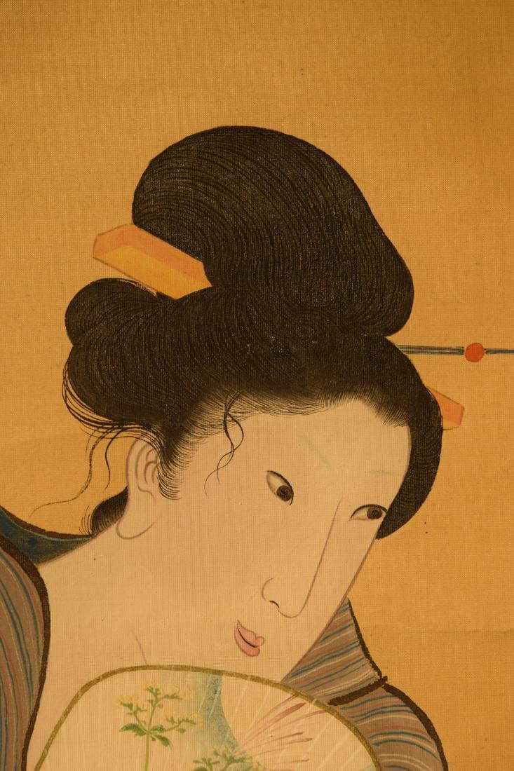 Japanese Scroll Painting of Beauty - 4