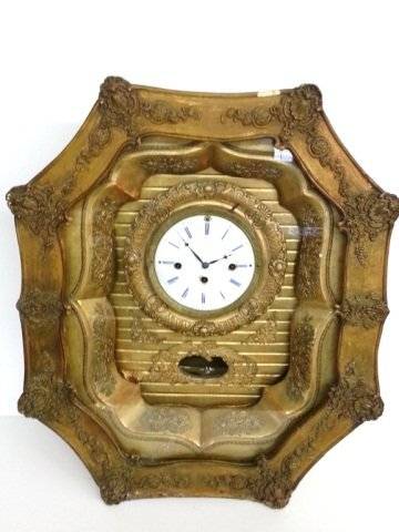 1: Early GA Beczwarowsky Prague Gold Gilded Clock