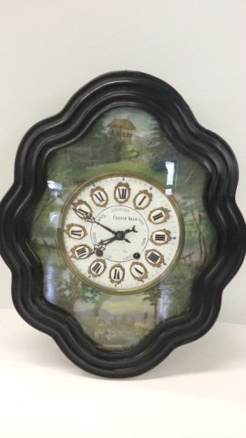 3: Hand Painted French Wall  Clock