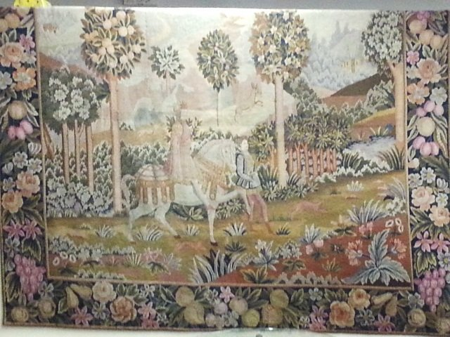 8: Early Large  7'x8' Hand Made Tapestry