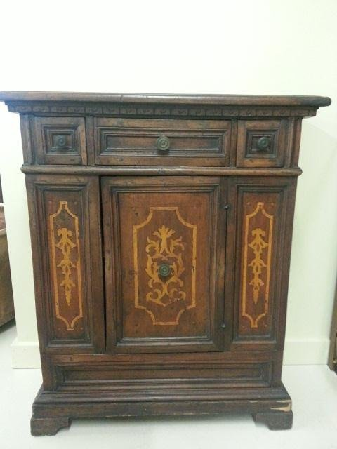 13: AntiqueEuropean  Cabinet With Inlay
