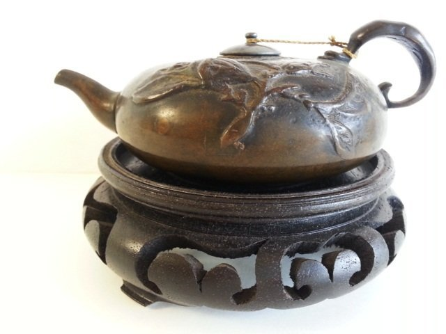17: Small Bronze Tea pot