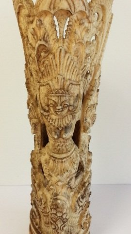 23: Early Heavily Carved Chinese Bone Figure