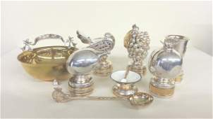 53: 8 pcs Judaica sterling silver artist signed