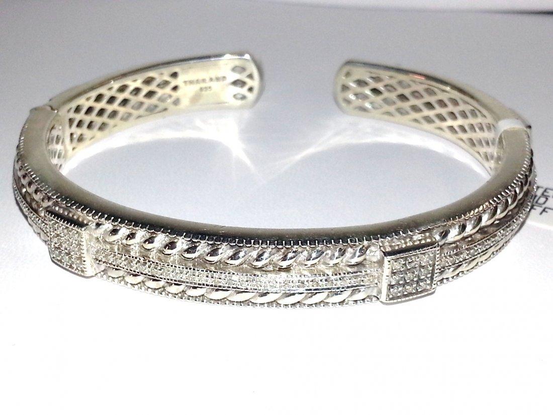 214: Sterling and Diamond Cuff Bracelet