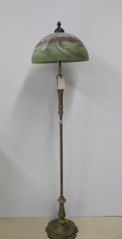 8: Floor Lamp With Reverse Painted Shade