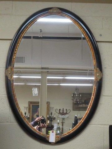 9: Decorator Black and Gold Mirror