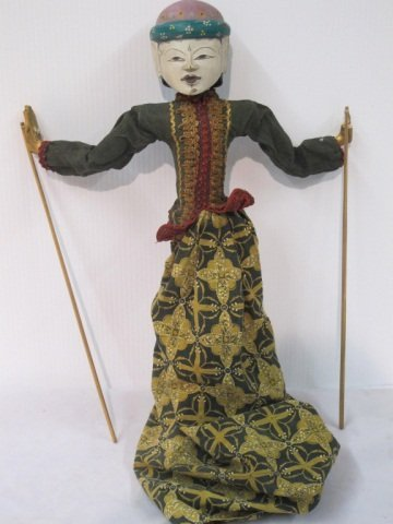 10: Oriental Wooden Handpainted Marionette With Horse