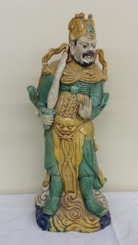 20: Chinese Pottery  Figural Roof Guard