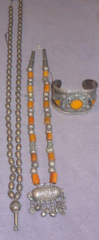 Three pieces of antique ethnic jewelry