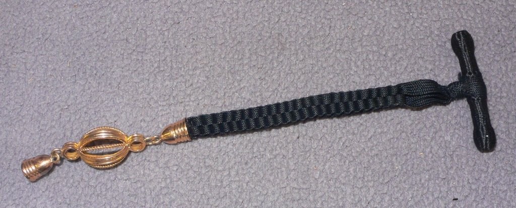 C. 1900 original gold and woven watch fob