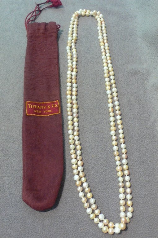 antique double opera length pearls
