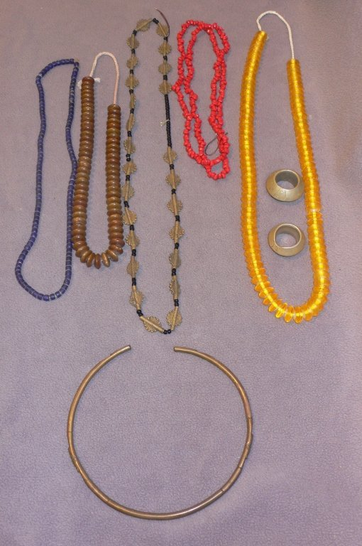 Antique African jewelry lot of 8