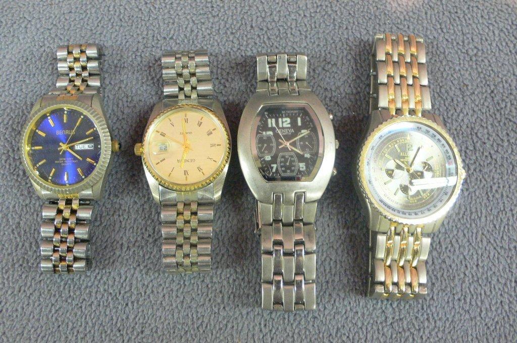 Four large vintage men's watches