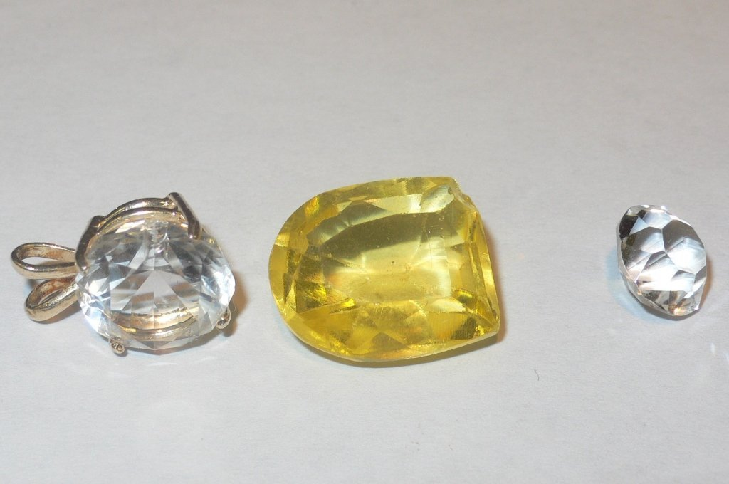 3 unknown stones