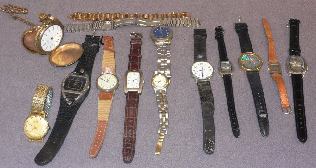 12  various vintage watches