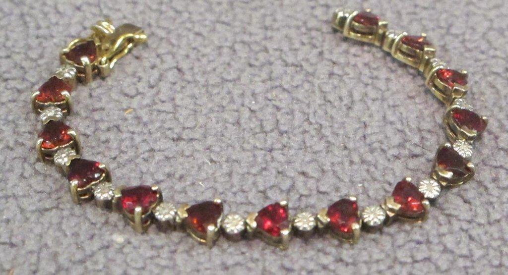 heart shaped ruby bracelet