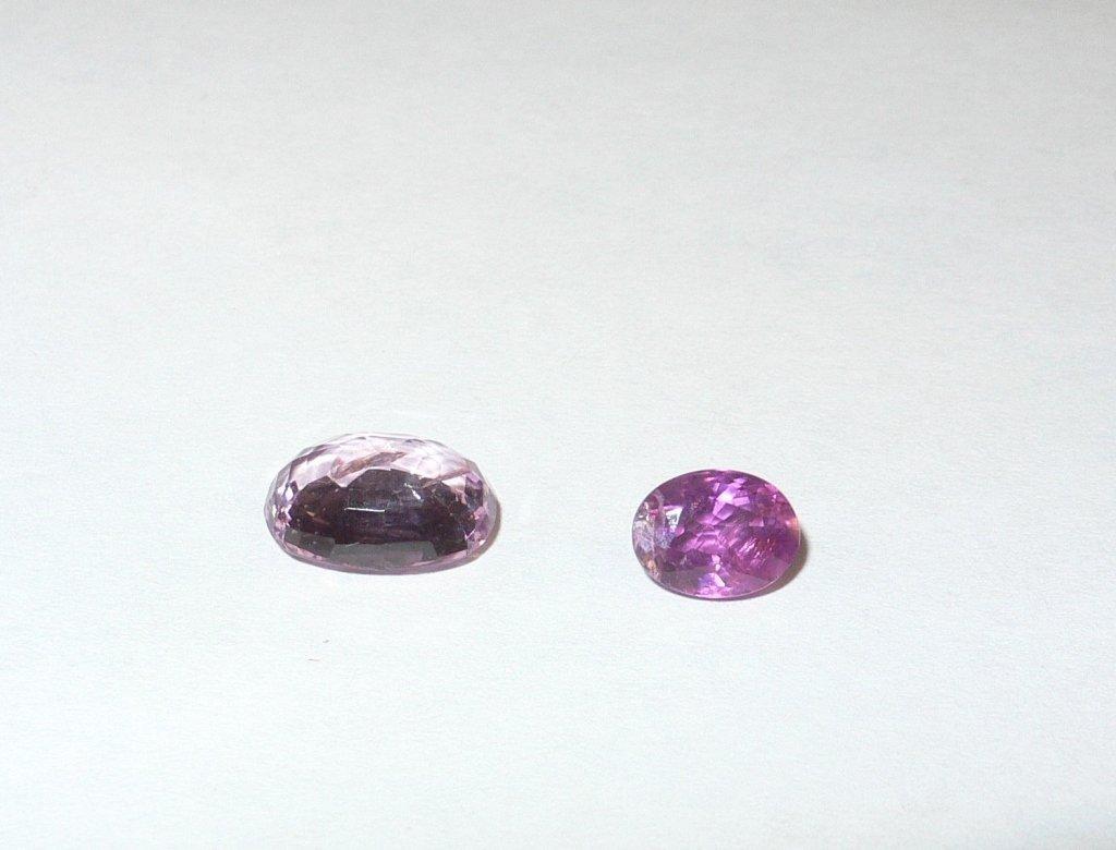 2 pink sapphires