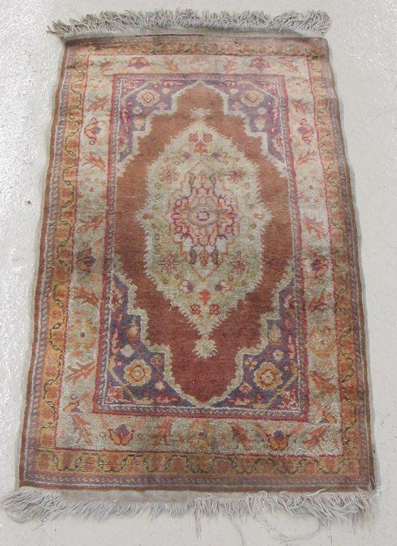 Turkish silk prayer rug