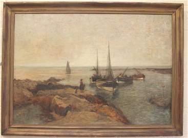 Robert Weir Allan oil on canvas seascape