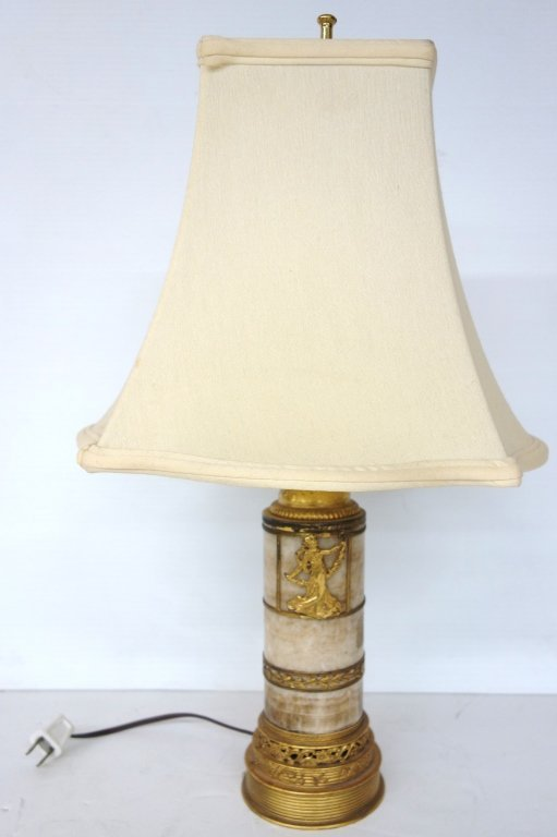 Gilded lamp