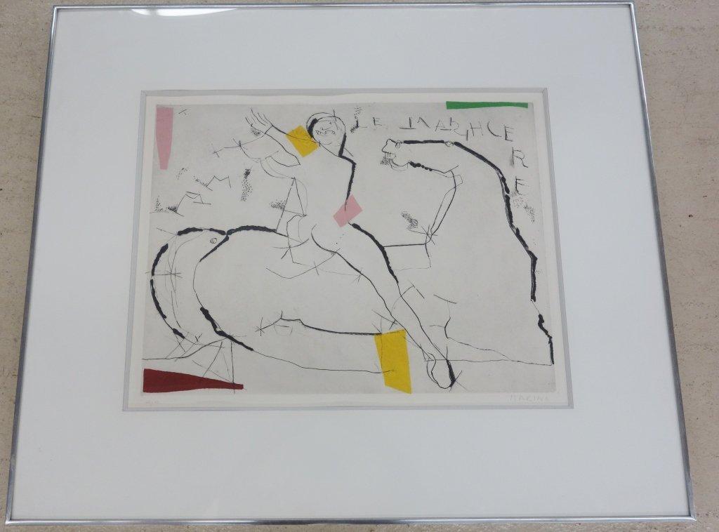 Marino Marini color etching
