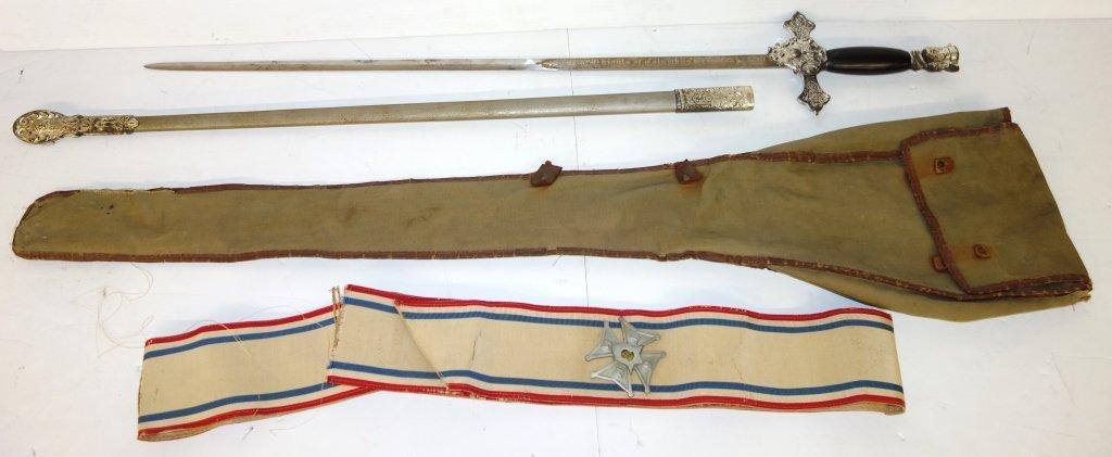 Sword & scabbard, gun case