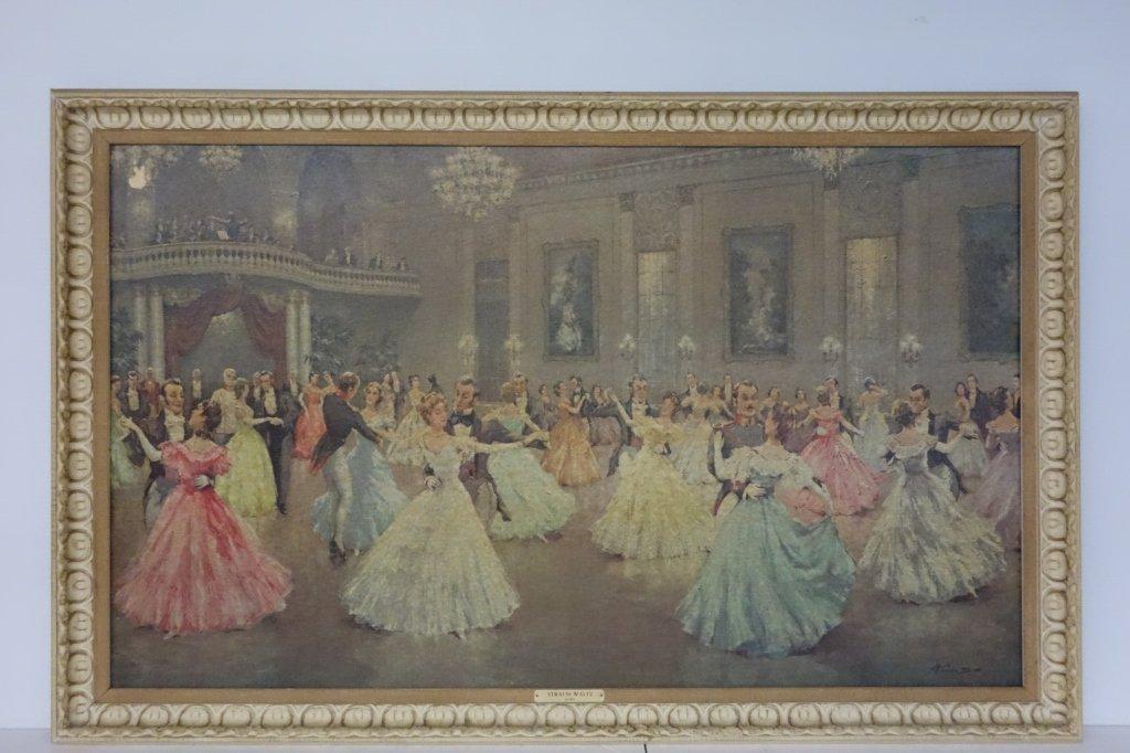 "Ballroom dancing print  titled ""Strauss Waltz"