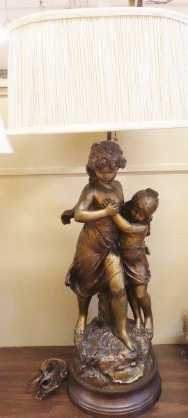 Hip Moreau bronze lamp