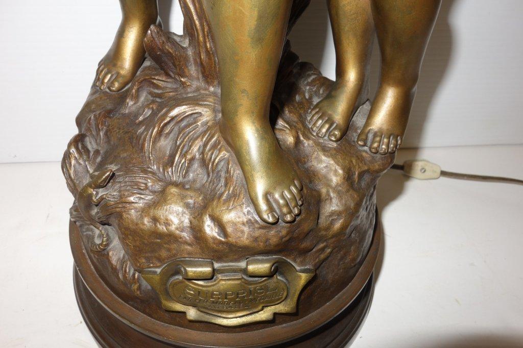 Hip Moreau bronze lamp - 6